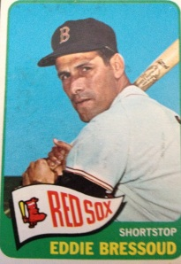A native Californian, Bressoud played his first two seasons with the Giants in New York before they moved to San Francisco. Was the first pick of the 1962 expansion draft by Houston, but didn't stay a Colt for long. He was traded to the Red Sox for Don Buddin in an exchange of shortstops, and Bressoud had his best seasons for the Red Sox. He hit .277 with 40 doubles in '62 (the Giants won the pennant without him), and .293 with 41 doubles in 1964, receiving a smattering of  MVP votes in both years. He hit .226 in '65 and was dealt to the Mets for Joe Christopher; the Mets moved him on to the Cards for '67, when he hit .134 in 67 at-bats. He played in two games in the '67 Series against the Sox without batting. He retired after the Series. Bressoud's final numbers: a .252 average, 94 home runs, 184 doubles, .319 on-base, .401 slugging, 17.0 WAR (4.8 in '62 and 4.5 in '64).