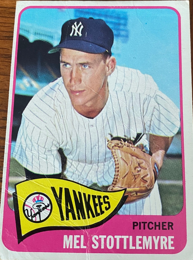 It's not true that only good pitchers lose 20 games -- a lot of bad ones have, too -- but it is in Mel Stottlemyre's case. He was an All-Star in 1966 when he lost 20 games, though that's damning with faint praise. Stottlemyre lost 20, but Yankees other than Mel lost 69 games and the team finished last for the first time since the last year they were called the Highlanders, in 1912. Stottlemyre was 12-20 with a 3.80 ERA and threw 251 innings, but it took a team effort for him to lose 20. The Yankees scored just 46 runs in the 19 starts Stottlemyre lost, or 2.5 per start. They were shut out twice and scored one run for Stottlemyre in eight of those losses. At 12-19 after having lost 2-1 to Boston on Sept. 23, Stottlemyre didn't start again, but he lost No. 20 on the final Friday in Game No. 157 (the Yankees had three games they didn't play). Stottlemyre entered in the 10th inning of a 5-5 game, pitched a scoreless inning and then lost No. 20 in the 11th on a single, a sacrifice bunt and another single. Needless to say the Yankees hadn't scored in the 11th, and they lost 6-5. Stottlemyre became the Yankees' first 20-game loser since Sad Sam Jones lost 21 in 1925. Sad Sam was a pretty good pitcher -- he won 229 games from 1913-35 -- but not in 1925. And neither were the '25 Yankees, even in the middle of a strong decade, a good team. They finished seventh as they lost 85 games (winning 69), 21 by Sad Sam. Jones' 4.63 ERA was above the league average of 4.39. He lost No. 20 on September 19 and kept on going, losing No. 21 eight days later when the Tigers knocked him with a six-run fourth inning on their way to a 10-5 win. Unfortunately for Sad Sam, by the time the Yankees became the Murderers' Row of 1927, he was a St. Louis Brown. Sad indeed.